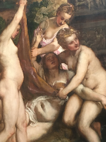 Diana and Callisto painting by Titian