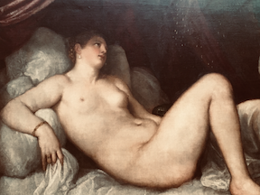 Danae painting by Titian