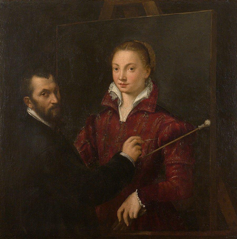 Self-portrait with Bernardino Campi